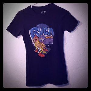 RVCA world tour faded hotdogs martini shirt size M
